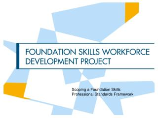 Scoping a Foundation Skills Professional Standards Framework