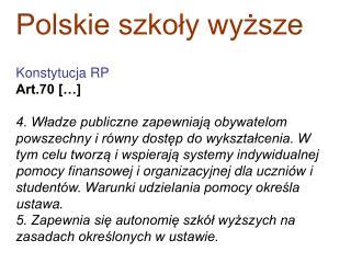 Polskie szkoły wyższe