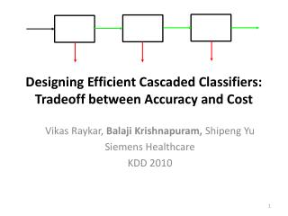 Designing Efficient Cascaded Classifiers: Tradeoff between Accuracy and Cost