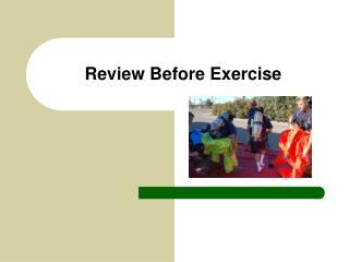 Review Before Exercise