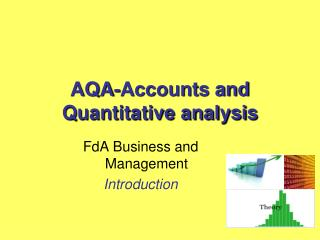 AQA-Accounts and Quantitative analysis