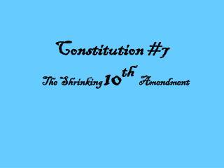 Constitution #7