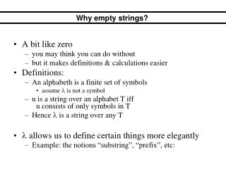 Why empty strings?