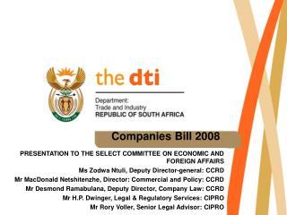 Companies Bill 2008