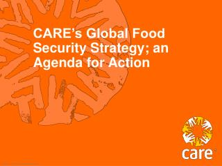 CARE's Global Food Security Strategy; an Agenda for Action