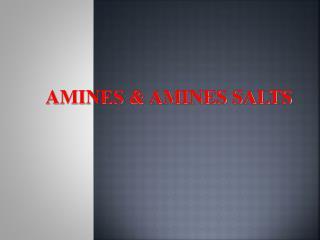 AMINES & AMINES SALTS