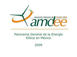 Panorama General de la Energía Eólica en México 2009