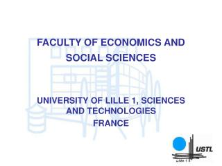 FACULTY OF ECONOMICS AND SOCIAL SCIENCES