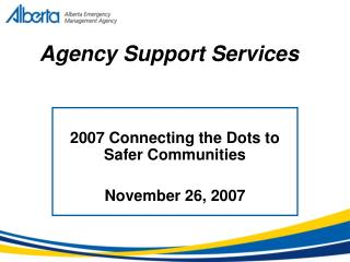 Agency Support Services