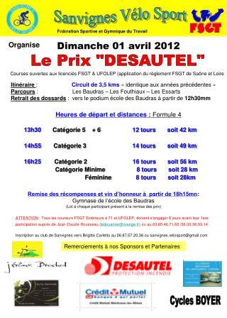 """Le Prix """"DESAUTEL"""""""