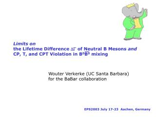 Wouter Verkerke (UC Santa Barbara)  for the BaBar collaboration