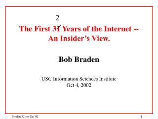 Outline A. Historical Overview 1961 - 1968:  Pre-history 1969 - 1973:  ARPAnet research period