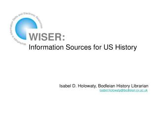 WISER: Information Sources for US History