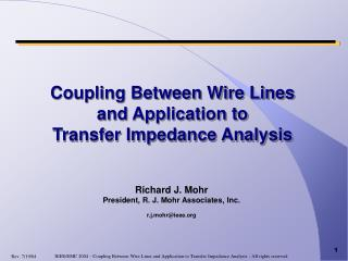 Coupling Between Wire Lines and Application to  Transfer Impedance Analysis