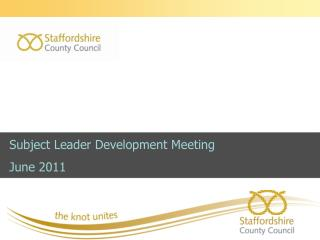 Subject Leader Development Meeting  June 2011