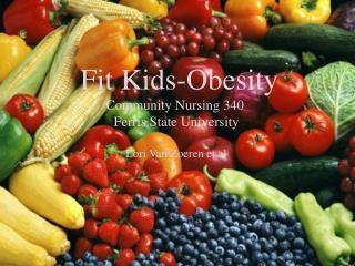 Fit Kids-Obesity                 Community Nursing 340         Ferris State University