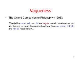 Vagueness