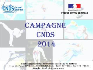 CAMPAGNE  CNDS  2014