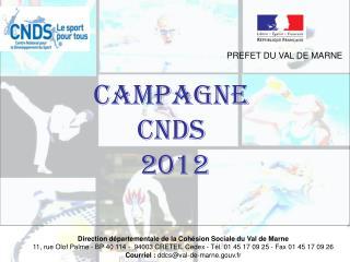 CAMPAGNE  CNDS  2012
