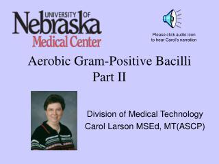Aerobic Gram-Positive Bacilli Part II