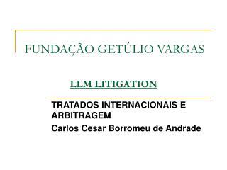 FUNDAÇÃO GETÚLIO VARGAS LLM LITIGATION
