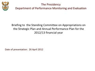 Date of presentation:  26 April 2012