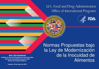 Normas Propuestas bajo la Ley de Modernización de la Inocuidad de Alimentos