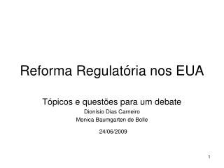 Reforma Regulatória nos EUA