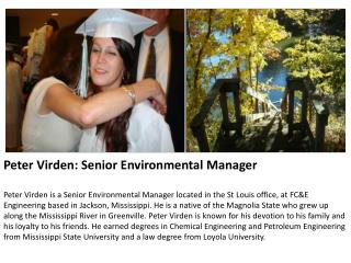 Peter Virden: Senior Environmental Manager
