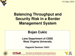 Balancing Throughput and Security Risk in a Border Management System