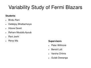 Variability Study of Fermi Blazars