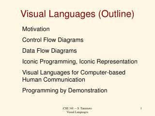 Visual Languages (Outline)