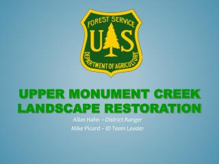 Upper Monument creek landscape restoration