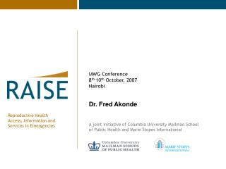 Dr. Fred Akonde