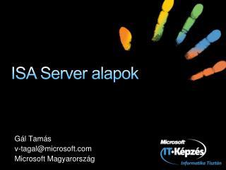 ISA Server alapok