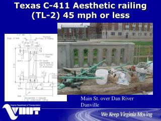 Texas C-411 Aesthetic railing (TL-2) 45 mph or less