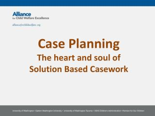 Case Planning The heart and soul of  Solution  B ased  C asework
