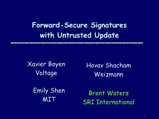 Forward-Secure Signatures  with Untrusted Update