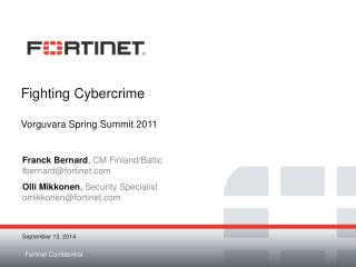 Fighting Cybercrime Vorguvara Spring Summit 2011