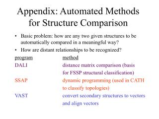 Appendix: Automated Methods for Structure Comparison