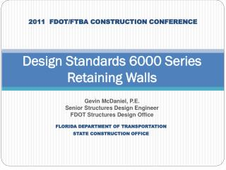 Design Standards 6000 Series Retaining Walls