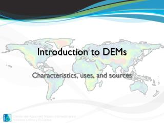 Introduction to DEMs