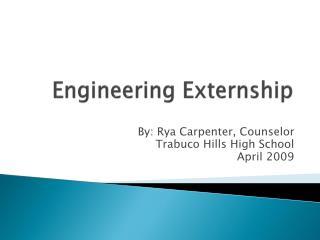 Engineering Externship