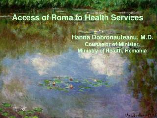 Access of Roma to Health Services