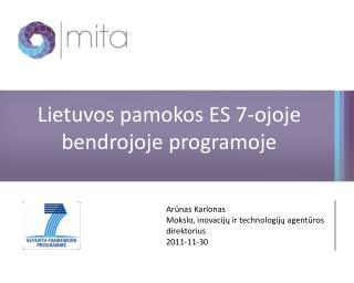 Lietuvos pamokos ES 7-ojoje bendrojoje programoje