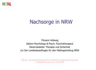 Nachsorge in NRW