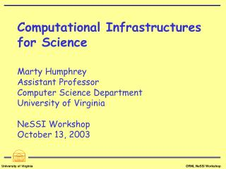 """Traditional"" Computational Science"