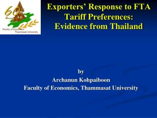 Exporters' Response to FTA Tariff Preferences:  Evidence from Thailand