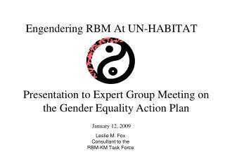 Engendering RBM At UN-HABITAT