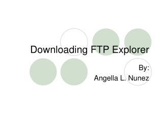 Downloading FTP Explorer